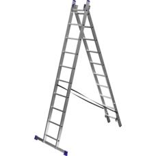 Лестница алюминиевая двухсекционная серия ЭКСПЕРТ Зубр 38821-10