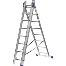 Лестница алюминиевая трехсекционная серия ЭКСПЕРТ Зубр 38831-08