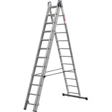 Лестница алюминиевая трехсекционная серия ЭКСПЕРТ Зубр 38831-12